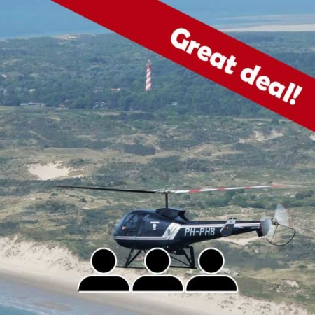 schouwenduiveland helikoptervlucht