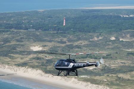 helikoptervlucht Schouwen Duiveland