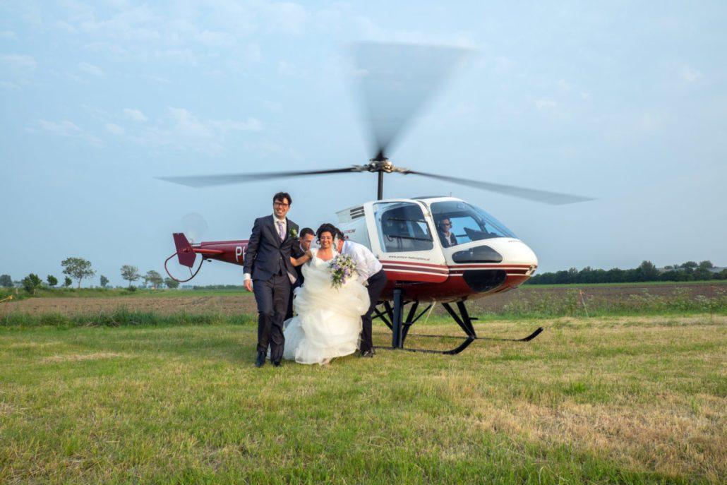 trouwvlucht helikopter