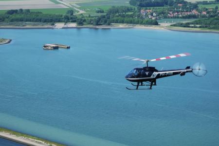 helikoptervlucht zeeland