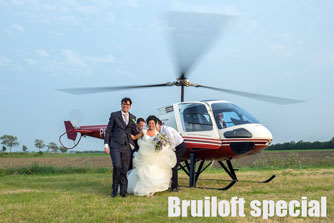 bruiloft helikopter