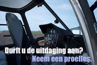 proefles helikopter