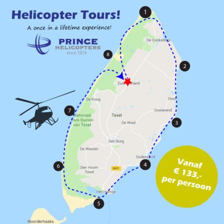 helikoptervlucht Texel